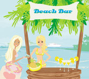 Bar auf dem Strand Lizenzfreies Stockbild