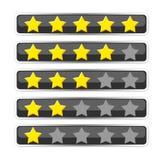 Bar avec des étoiles de vote/notation Photographie stock