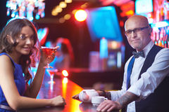 In the bar Royalty Free Stock Photo