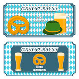 Bar banner Oktoberfest. Vector illustration logo for bar banner oktoberfest,pub during the festival,beer mug with foam filled to the brim,vintage pubs Royalty Free Stock Photos