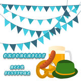 Bar banner Oktoberfest. Vector illustration logo for bar banner oktoberfest,pub during the festival,beer mug with foam filled to the brim,vintage pubs Royalty Free Stock Photo