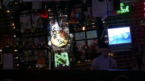 Bar with the bartender stock video footage