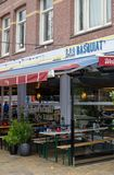 Bar `Basquiat` in Javastraat street, Oost, Amsterdam, Netherlands. Outside street view. Bar `Basquiat` in Javastraat street, Oost, Amsterdam, Netherlands royalty free stock photo