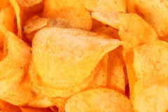 Bar be Que Chips/Crisps Closeup Royalty Free Stock Photos
