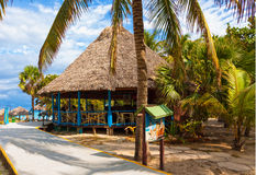 Bar by the beach in the cuban beach in Varadero Royalty Free Stock Image