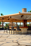Bar at the beach of luxury hotel Stock Photo