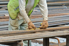 Bar bending yard Stock Photos