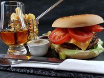 Bar bistro lunch dinner tasty fastfood whisky Stock Photo