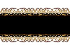 Bar in black and gold. Black bar with golden ornaments - for multiple purposes. Available as vector too Stock Image