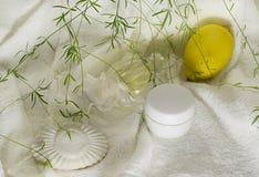 Bar blanc de savon Images stock