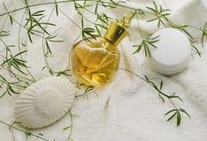 Bar blanc de savon Photo stock