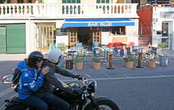 Bar Blue Port de Soller Stock Image