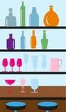 Bar bottle showcase background Royalty Free Stock Photo