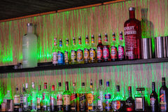 Bar bottles Royalty Free Stock Photos