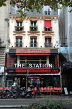 Bar-brasserie The Station. In  Paris, France Royalty Free Stock Photo