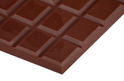 Bar of  brown chocolate. Bar of coffee brown chocolate Royalty Free Stock Image