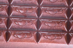 Bar of  brown chocolate. As food background Stock Image