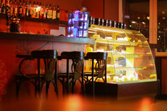 Bar in the Café Stock Photography