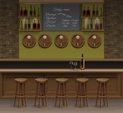 Bar Cafe Beer Cafeteria Counter Desk Interior Vector Royalty Free Stock Images