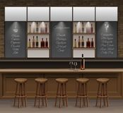 Bar Cafe Beer Cafeteria Counter Desk Interior Vector Royalty Free Stock Photo