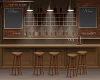 Bar Cafe Beer Cafeteria Counter Desk Interior Vector Royalty Free Stock Photos