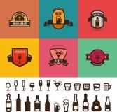 Bar Cafe Vintage Labels vector design. Menu Badges Stock Image