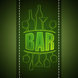 Bar card design Stock Image