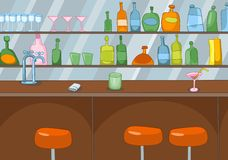 Bar Cartoon Stock Photography