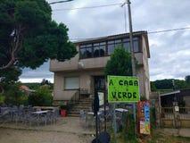 Bar A Casa Verde in A Salceda, Galicia, Spain. Camino de Santiago stock images