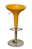Bar chair. Yellow modern bar chair isolated over white background Royalty Free Stock Photos