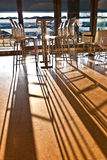 Bar chair in early morning light at the Airport Royalty Free Stock Image