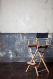 Bar chair at the wall, vintage background Stock Image