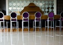 Bar chairs Stock Images
