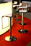 Bar Chairs. In a modern and stylish interior Stock Photography