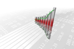Bar chart 1 Royalty Free Stock Image