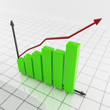Bar chart. Success graph for business presentations Royalty Free Stock Image