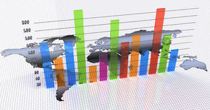 Bar chart Royalty Free Stock Images