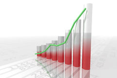 Bar chart 2 royalty free stock photos