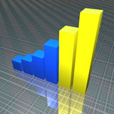 Bar Chart. 3d illustration finance concept Royalty Free Stock Photo