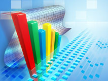 Bar chart Stock Photography