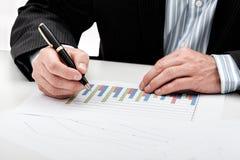 Bar chart analysis Stock Photo