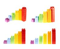Bar chart diagram isolated Royalty Free Stock Image