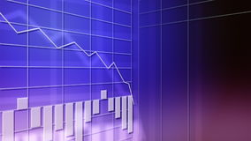 Bar chart downtrend. 3D animation of a bar chart. The chart reveals a downtrend. This clip can be used for many purposes, from business to global financials. The royalty free illustration