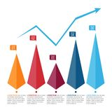 Bar Chart Graph Triangle Pyramid Statistical Business Infographic.  royalty free illustration