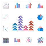 Bar chart icon. Detailed set of Charts & Diagramms icons. Premium quality graphic design sign. One of the collection icons for web. Bar chart icon. Detailed set Royalty Free Stock Images