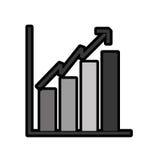 Bar chart icon Royalty Free Stock Photo