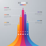 Bar chart infographic template for data visualization with 5 opt Stock Image