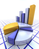 Bar chart and pie chart Royalty Free Stock Image