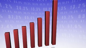Bar chart red stock video