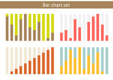 Bar chart set. Set of 4 isolated bar charts - from 0 to 100 percent Royalty Free Stock Image